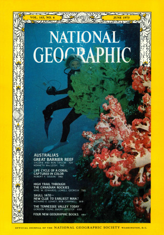 Valerie Taylor featured on the June 1973 cover of National Geographic magazine. (National Geographic/Ron Taylor)