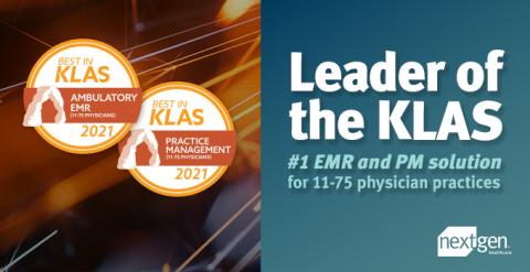 NextGen Healthcare Ranked Number #1 EMR and Practice Management Solution in 2021 KLAS Report (Photo: Business Wire)