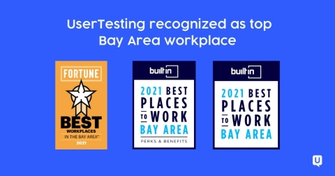 UserTesting Recognized as a Top Bay Area Workplace by Fortune and Built In (Graphic: Business Wire)
