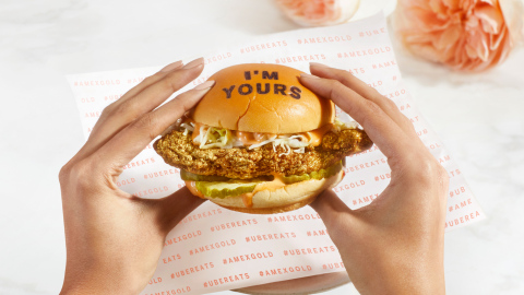 American Express and Uber Eats have teamed up to introduce a limited-edition Rose Gold Meal this Valentine's Day weekend. (Photo: Business Wire)