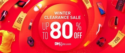 DHgate, one of China's leading B2B cross-border eCommerce platforms, has announced its first winter clearance during the holiday, running from February 4 to 24, with deals offering up to 80% off. (Graphic: Business Wire)