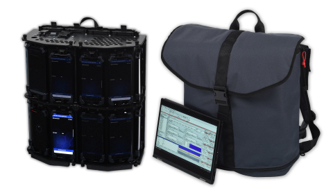 Nemo Backpack Pro for benchmarking 5G networks inside buildings supports up to 18 smartphones for quick, consistent and accurate measurements of key performance indicators across multiple carriers. (Photo: Business Wire)