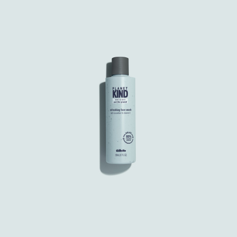 Planet KIND's moisturizer and face wash bottles are made with 85% recycled plastic and are recyclable. (Photo: Business Wire)