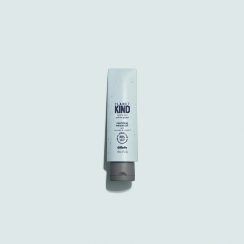 Planet KIND's dermatologist-tested moisturizer, face wash and shave cream is infused with Vitamin E and cucumber and formulated without parabens, SLS sulfate, alcohol or dyes. (Photo: Business Wire)
