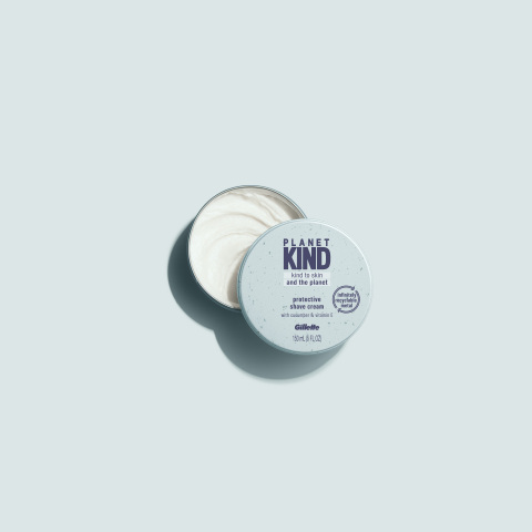The Planet KIND shave cream jar is made with infinitely recyclable aluminum. (Photo: Business Wire)