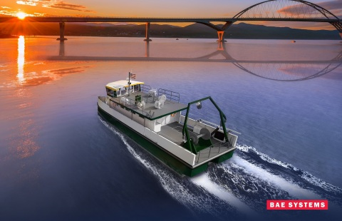 BAE Systems' HybriGen® Power and Propulsion system will help reduce both carbon emissions and the use of fuel by the University of Vermont's maritime research vessel. The vessel will serve as a floating classroom and lab for students on Lake Champlain. (Photo credit: BAE Systems)