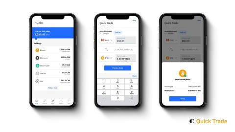 Quick Trade makes buying and selling digital assets quick and convenient, with commission-free transactions and competitive pricing for the most popular digital assets. (Photo: Business Wire)