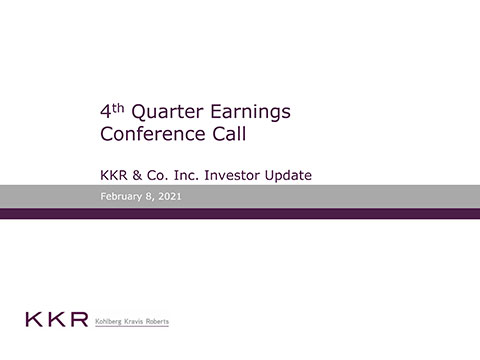 KKR Q4'20 Supplemental Operating and Financial Data
