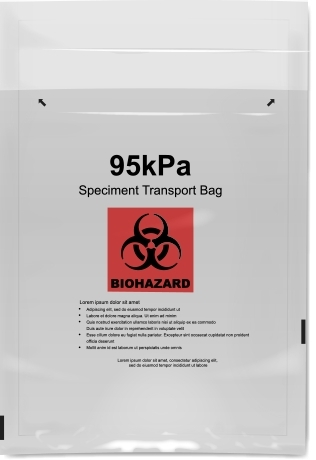 The 95kPa VonSeal liquid-tight specimen transport bag is designed to withstand, without leakage 95kPa which meet IATA requirements for shipping hazardous liquids on air transport. All 95kPa bags are made with a custom film structure that features a strong adhesive closure and continuous seal, which makes it ideal for critical liquid and substance containment. (Photo: Business Wire)