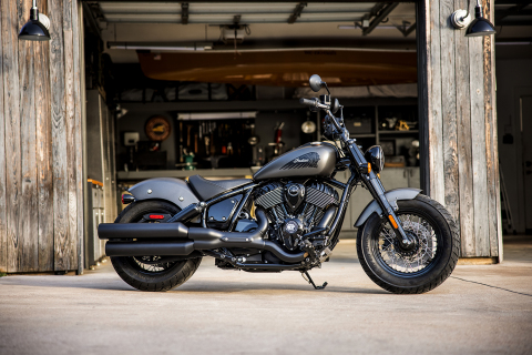 In celebration of 100 years, Indian Motorcycle, America's First Motorcycle Company is unleashing three new, totally reimagined Indian Chief models for its 2022 lineup. Featured in this photo is the Chief Bobber Dark Horse which starts at $18,999 and is available in Black Smoke, Titanium Smoke, and Sagebrush Smoke. (Photo: Business Wire)
