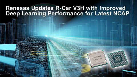 Renesas updates R-Car V3H with improved deep learning performance for latest NCAP (Photo: Business Wire)