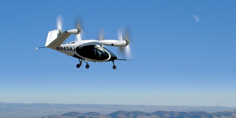 Joby Aircraft in flight in Northern California. Photo credit: Joby Aviation