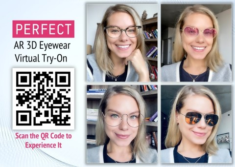 Perfect Corp. launches augmented reality virtual try-on service for 3D eyewear (Photo: Business Wire)
