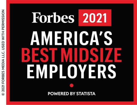 Granite Named One of America's Best Midsize Employers by Forbes for the Fifth Consecutive Year (Graphic: Business Wire)