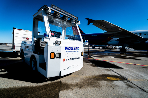 By utilizing ThorDrive's vehicles, equipped with Velodyne Lidar's Ultra Puck™ sensors, airlines are able to autonomously transport baggage and cargo to and from planes and throughout facilities at any time, day or night. (Photo: ThorDrive)