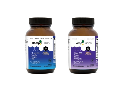 HempFusion 300 mg Sleep and Stress Support CBD Capsules (Photo: Business Wire)