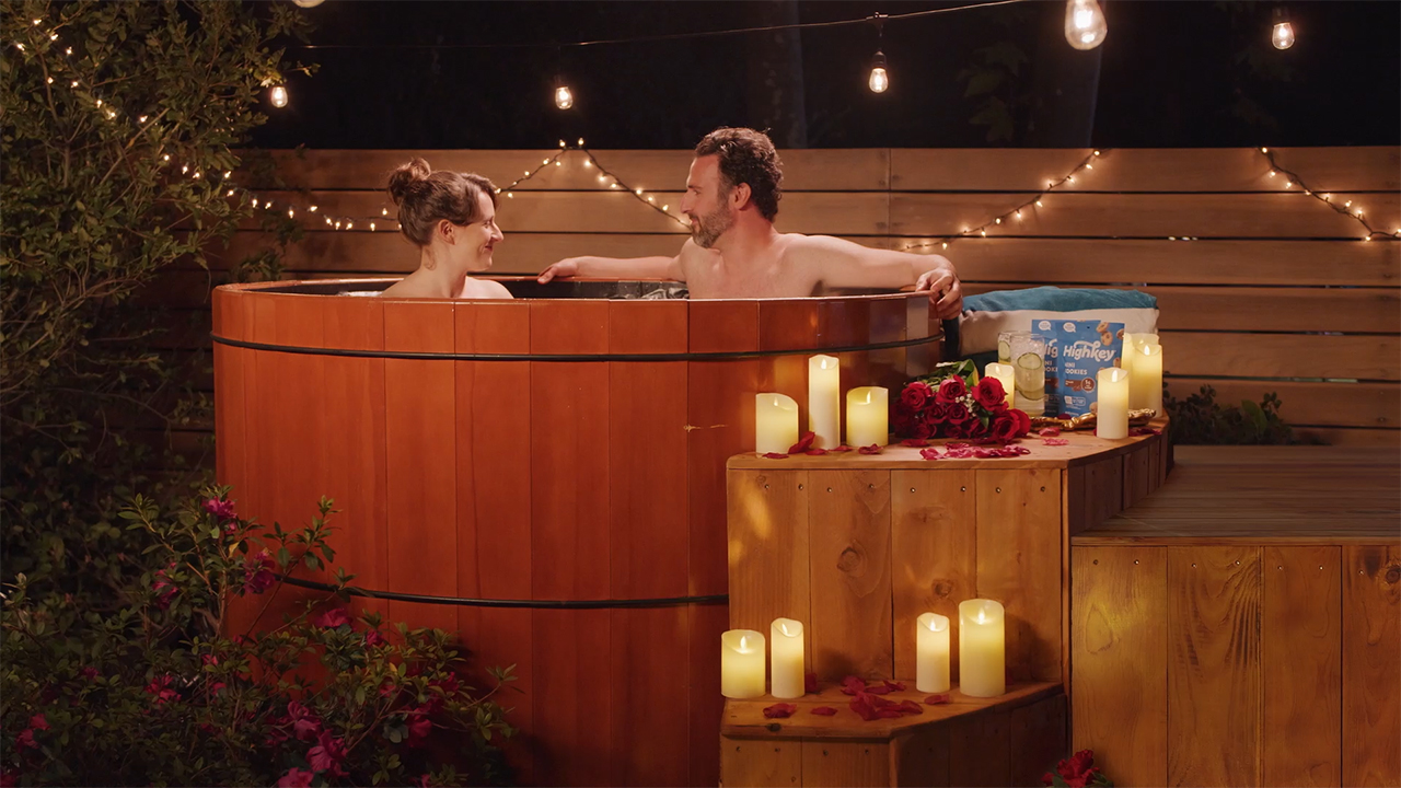Released just in time for Valentine's Day, the first full ad shows Sugar Panda crashing a romantic date.
