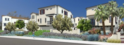 Rendering of Eclipse, 113 three-story townhomes in Escondido, Calif. (Graphic: Business Wire)