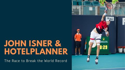 John Isner and Hotel Planner, The Race To Break The World Record (Photo: Business Wire)