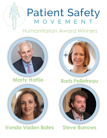 Steve Burrows, Vonda Vaden Bates, Marty Hatlie and Barb Pelletreau were recognized by the Patient Safety Movement Foundation for their efforts eliminating and raising awareness of preventable patient deaths (Photo: Business Wire)