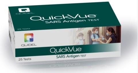 (Photo: QuickVue® SARS Antigen test by Quidel® Corporation)
