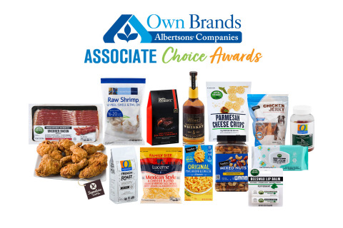 The winners of Albertsons Companies' first Associate Choice Awards. These products were selected by Albertsons Cos. associates as their favorite Own Brands products of 2020. (Photo: Business Wire)