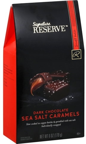 Signature RESERVE dark chocolate sea salt caramels, which Albertsons Companies associates chose as their favorite new Own Brands product for 2020. (Photo: Business Wire)