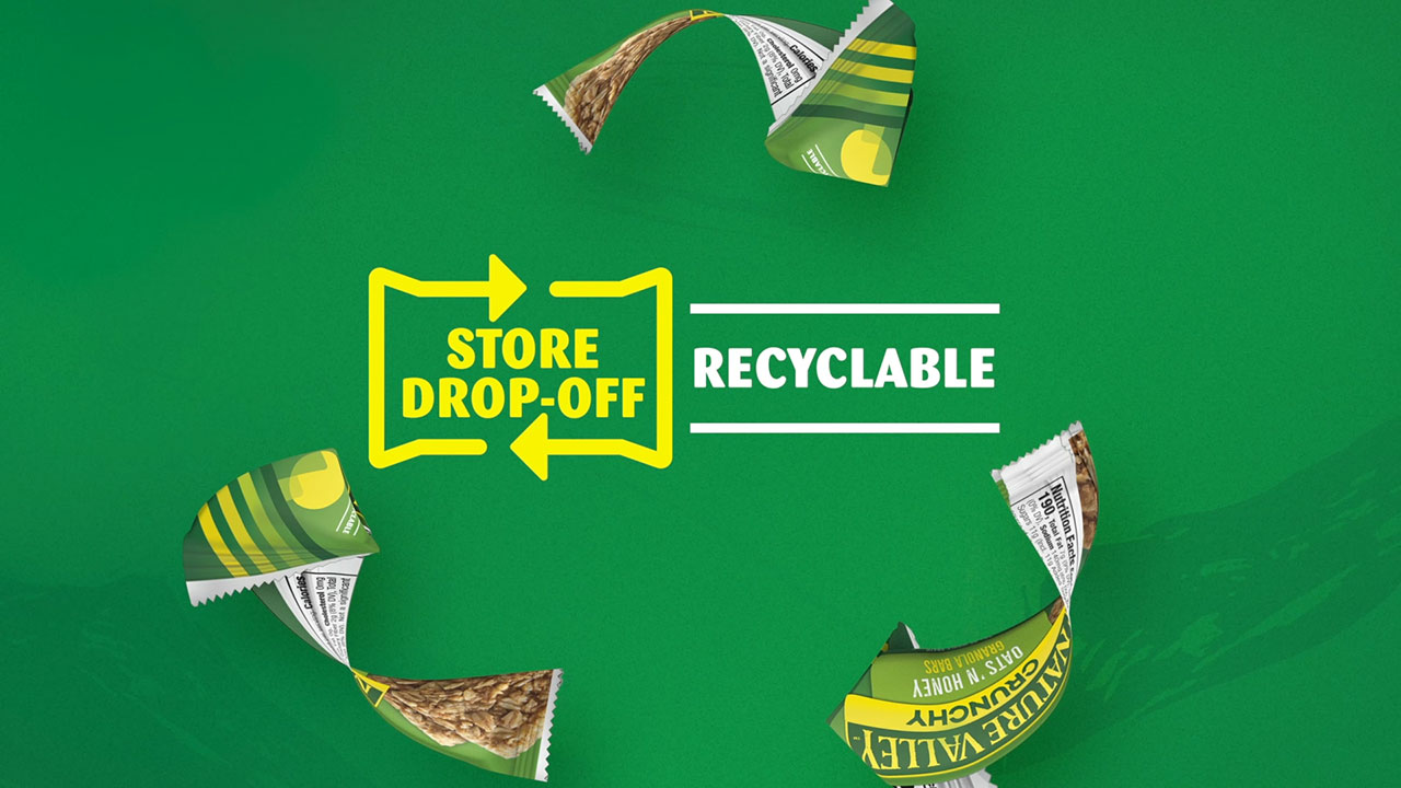Nature Valley launches first-ever store drop-off recyclable snack bar wrapper.
