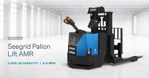 Haul payloads from one area to another, placing the payloads at heights of up to six feet for continuous workflow with the new Seegrid Palion Lift AMR (Photo: Business Wire)