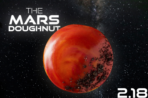 Mars Doughnut Lands at KRISPY KREME® for One Day Only, Feb. 18.  (Photo: Business Wire)