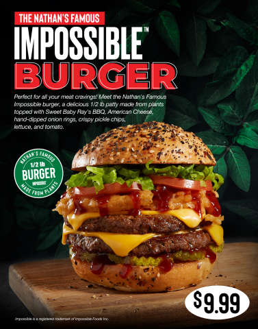 Nathan's Famous Impossible™ Burger (Photo: Business Wire)