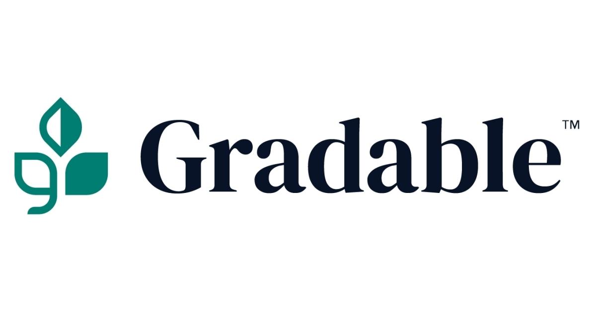 Gradable logo color.