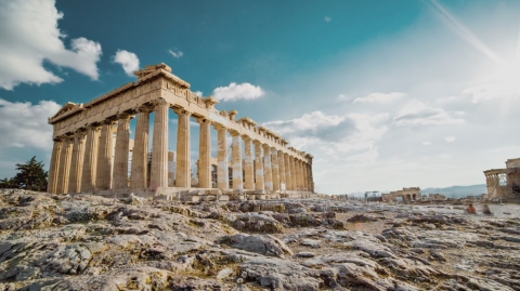 Classical Greek marvels of engineering, featured in CuriosityStream's original series 'Ancient Engineering' (Photo: Business Wire)
