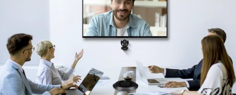 VC520 Pro2 (pictured) is an enterprise-grade camera and speakerphone solution that brings a fluid audio communication experience to any meeting space. (Photo: Business Wire)