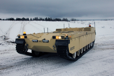 The Type-X RCV is designed to support mechanized units and will become an intelligent wingman to main battle tanks and infantry fighting vehicles. (Photo: Business Wire)