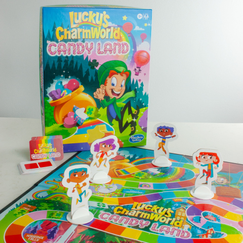 Lucky Charms brings new magic to families this St. Patrick's Day including the new Lucky's CharmWorld CANDY LAND game (Photo: Business Wire).
