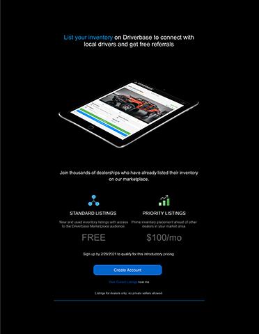 Driverbase Offers - NADA 2021 Dealer Program