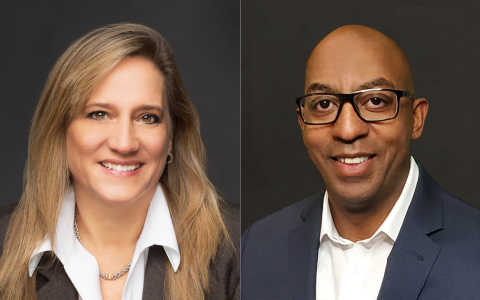 From left to right: Yvette Kanouff, Partner and chief technology officer at JC2 Ventures and Rodney Clark, Corporate vice president of the Worldwide Internet of Things (IoT) and Mixed Reality Sales at Microsoft Corporation (Photo: Entegris, Inc.)