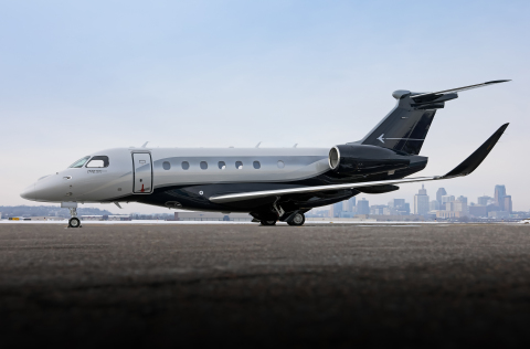 The world's first transaction of a pre-owned Embraer Praetor 600. (Photo: Business Wire)