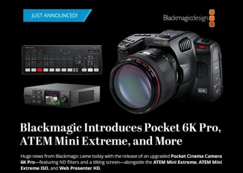 Blackmagic Design 6K Pro - Pocket Cinema Camera 6K Pro (Graphic: Business Wire)