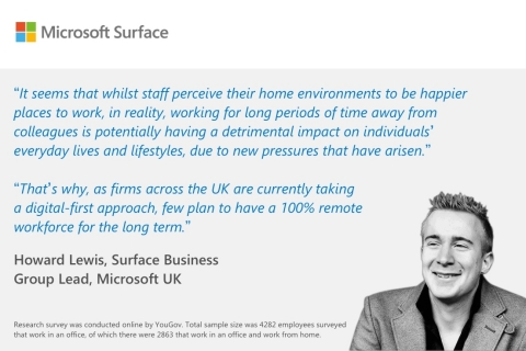 Howard Lewis, Surface Business Group Lead, Microsoft UK, on the release of Work Smarter to Live Better: new research uncovering the expectations of the UK workforce when it comes to hybrid work (Graphic: Business Wire)