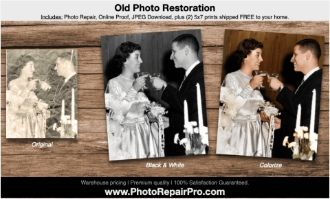 Restore photographs to their original condition or colorize (Graphic: Business Wire)