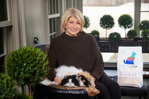 World's Smartest Cat Litter Brand, PrettyLitter, Partners with Martha Stewart. Photo credit: Mike Krautter