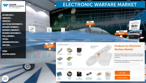 A view from the floor of the new Virtual Trade Show of Teledyne Defense  Electronics. (Graphic: Business Wire)