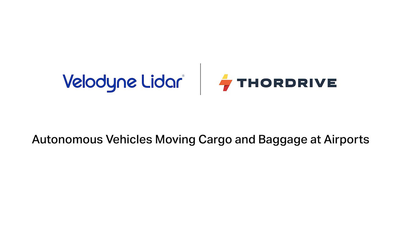ThorDrive is using Velodyne's lidar sensors to power its cargo and baggage ground support tractors in a groundbreaking autonomous vehicle program at the Cincinnati / Northern Kentucky International Airport. (Video: ThorDrive)