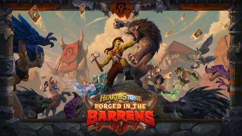 Forged in the Barrens takes Hearthstone players back to one of Warcraft's most iconic locales. (Graphic: Business Wire)