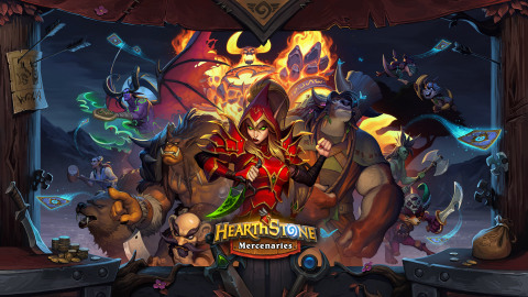 Hearthstone Mercenaries, a new single-player and competitive game mode in which players collect, upgrade, and do battle with mighty characters from across Azeroth, is coming later in the year. (Graphic: Business Wire)