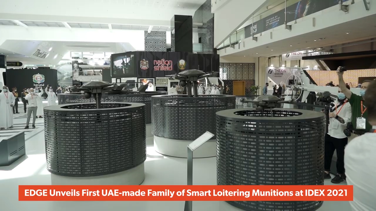 EDGE Unveils First UAE-made Family of Smart Loitering Munitions at IDEX 2021 (Video: AETOSWire)