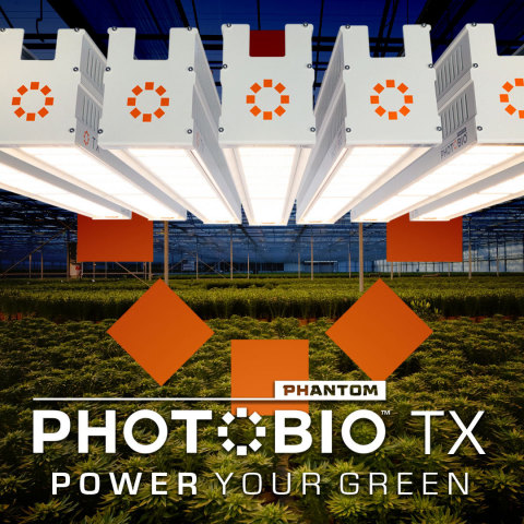 Hydrofarm's Phantom PHOTOBIO™•TX and PHOTOBIO™•T Greenhouse and Indoor Grow Lights Power Green for Sustainable Farming (Photo: Business Wire)