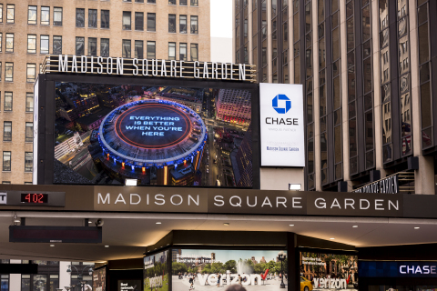 New York Knicks and New York Rangers join together to welcome fans back to Madison Square Garden (Photo credit: MSG Sports)